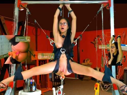 FullHD porn – Hanging asian girl fucking machine porn webcam