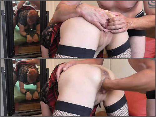 Mature penetration – Mature squirt during rough vaginal fisting and dildo sex with husband