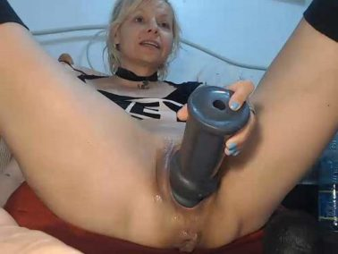 Stretching gape - RaisaWetsX gaping pussy stretching with many dildos games webcam