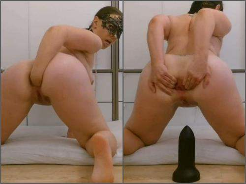 Solo fisting – Saggy tits masked wife Thesecretlifeofsex self fisting to rosebutt