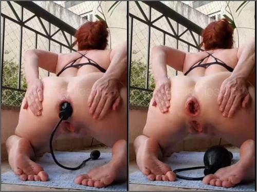 Inflatable dildo – TeresaFilosofa outdoor penetration inflatable dildo in ruined anus hole