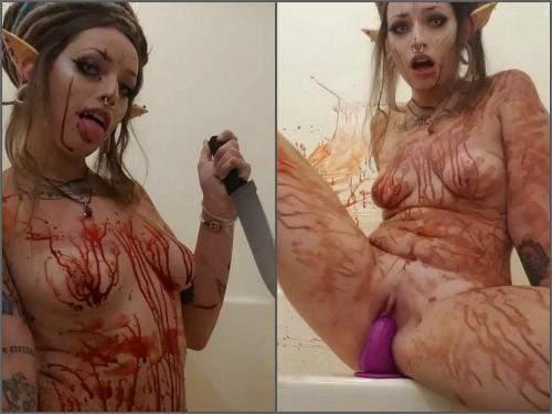 Cosplay – GhostGoddessLillith halloween horror porn: vampire elf 2.0