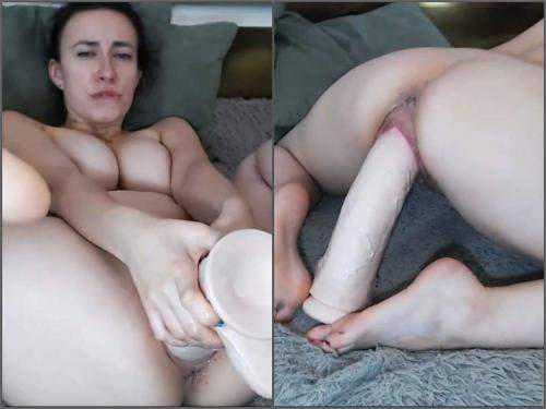 Huge dildo – Busty giant herself penetration huge dildo in wet pussy