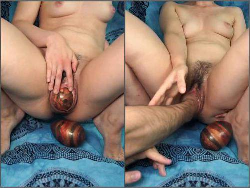 Mature fisting – Depraved hairy wife gets many big ball eggs and fisted vaginal only