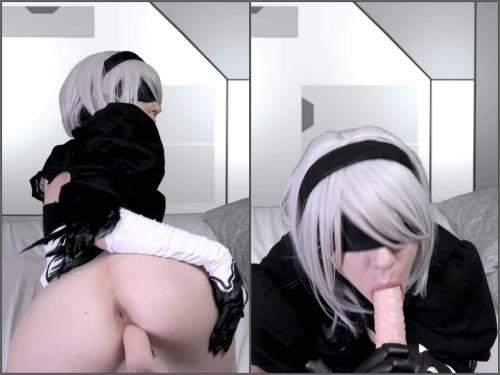 Dildo porn – Kailey Ketchum reprogramming 2B into a sex bot 4k porn cosplay