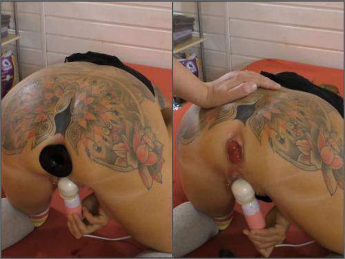Prolapse porn – AngelAlpha ass plug hard core to prolapse and gape