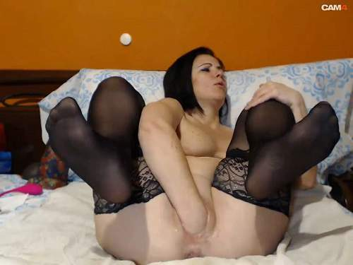 Queenvivian pussy fisting,Queenvivian solo fisting,mature fisting,fisting video,saggy tits,dildo riding,bad dragon toy