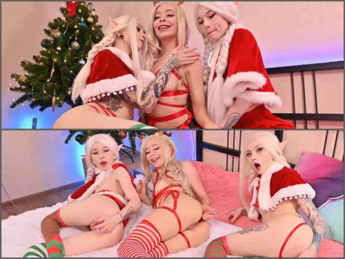 Lesbian teen – Karneli_Bandi Santa's helpers found spoiled toys webcam
