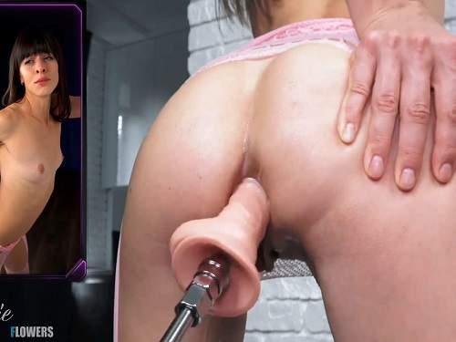 Fucking machine videos – Natalieflowers squirt during fucking machine driller her anus