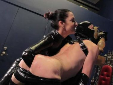 Fisting domination - Rubber mistress bloody spanking and deep elbow fisting domination to slave male