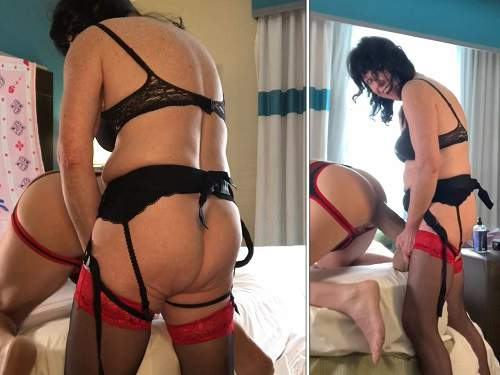 Strap on – Amateur dirty mistress really monster strapon domination to husband