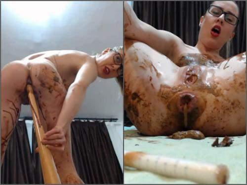 Dildo anal – Ella Gilbert chocolate fetish and baseball bat anal