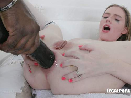 Gaping anal – Rebel Rhyder many black cock and BBC dildo anal very deep