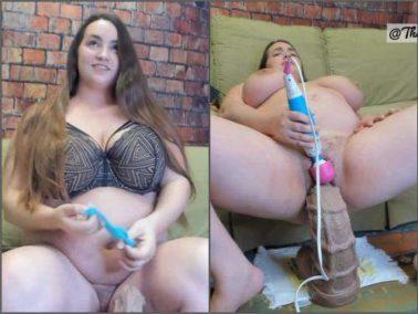 Big Tits - BBW Jeri Lynn first time with XXXL sea horse dildo – Premium user Request