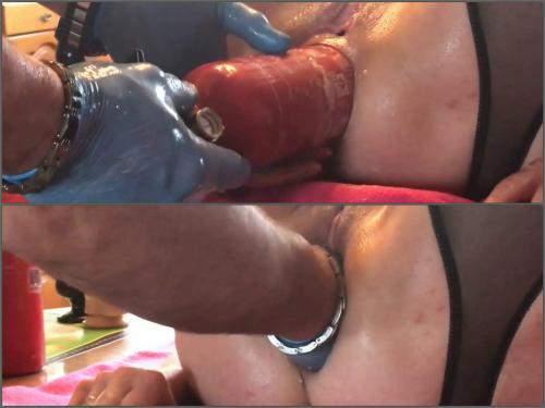 Rosebutt loose – Unique amateur extinguisher, dildo and fist penetration anal only