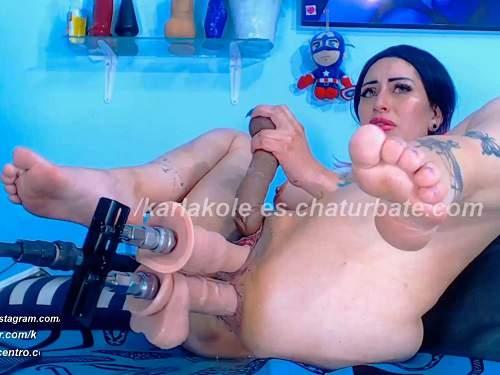 FullHD porn – Webcam Karlakole double fucking machine sex and DAP