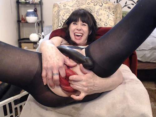 Prolapse ass – Webcam perfect MILF shocking size anal prolapse – Premium user Request
