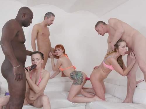 Webcam – Ally Style, Kessie Shy and Nika double side dildo fuck