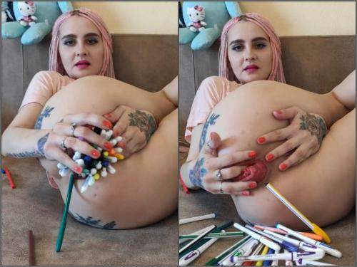 Teen prolapse – Forest Whore penetration many pencils and ruined prolapse – Premium user Request