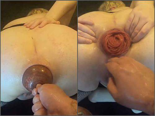 Prolapse ass – Violet Buttercup my most extreme anal play ever – XXXL egg, deep anal and double fisting – Premium user Request