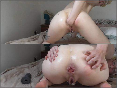 Rosebutt – Rosavile fisting my ass, gape and rosebud prolapse – Premium user Request