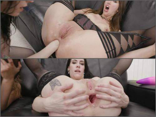 Deep fisting – Anna De Ville and Susan Ayn bad dragon deep anal gape and rosebutt loose
