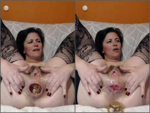 Closeup – Webcam Kinkyvivian anal rosebutt loose with ball and huge rubber dildo