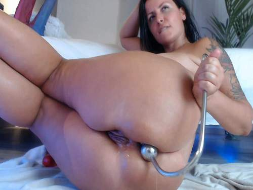 Anal stretching – Hook anal penetration to squirt and rosebutt