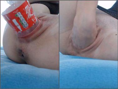 Amateur - Valkyriawild fisting and playing with cola bottle and making my pussy cum – Premium user Request
