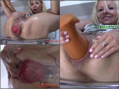 Dildo porn - Shocking size wet anal prolapse stretching with cute blonde – Premium user Request
