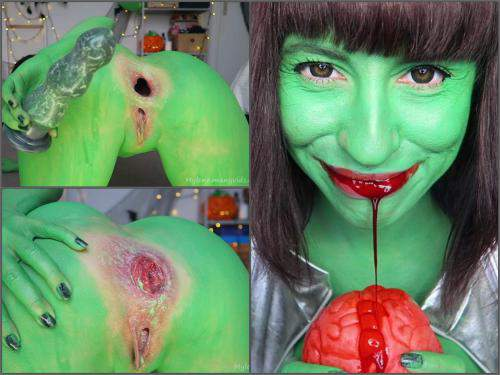 Halloween porn – Mylene dirty creature RP. Gapes, rosebud, beads – Premium user Request
