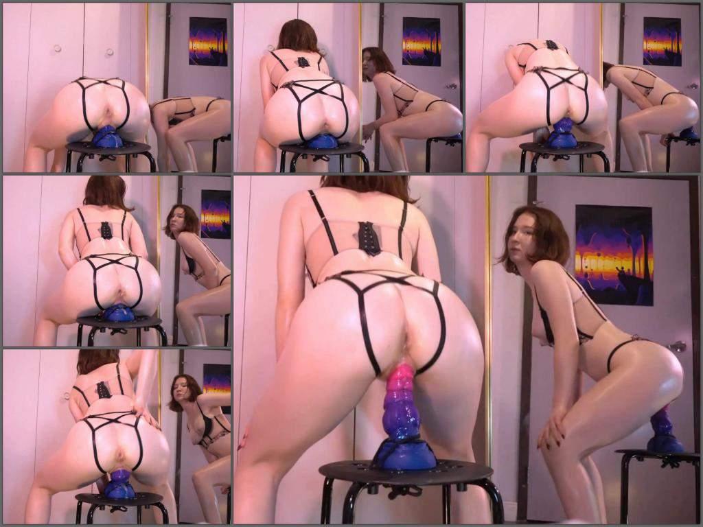 Baddragonslayer dildo rides,dildo porn,dildo penetration,bad dragon toy,dragon dildo sex,ruined pussy,stretching pussy,mirror porn