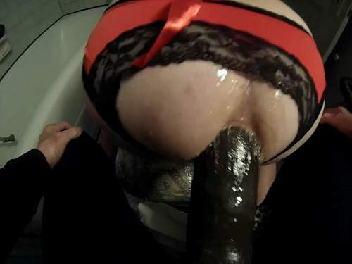Femdom wife – Rare amateur forced monster strapon domination with couple Submissive Husband