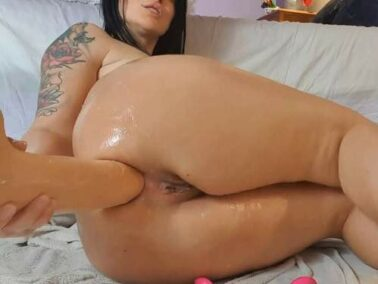 Big Tits - Dildo anal sex and anal prolapse loose in awesome clips compilation