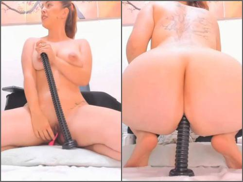 Dildo porn – Booty tattooed Anal__girl many huge dildos fully anal fuck