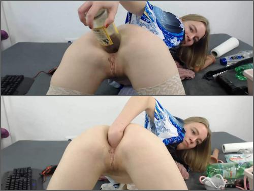 Webcam fisting – JanaBellaCam triple rosebud dildos in asshole at the moment