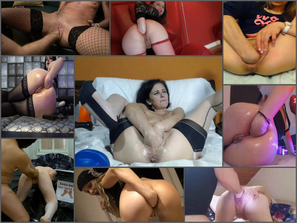 Top amateur double solo and domination fisting 175 clips