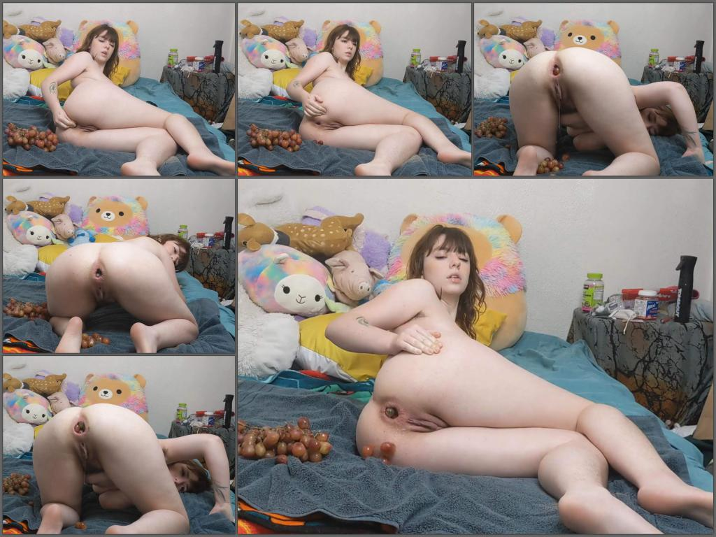 Analgirlforever filling my ass with grapes custom,Analgirlforever food porn,Analgirlforever vegetable sex,vegetable porn,anal ruined,girl anal ruined,anal loose,food anal masturbation,big ass teen porn