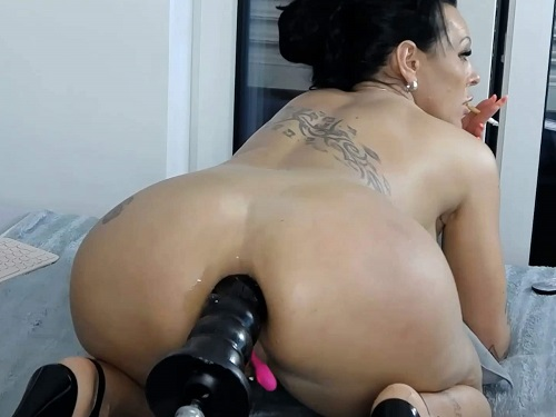Fucking machines – Smoking fetish brunette Hotmilfbitch fucking machine driller her ass
