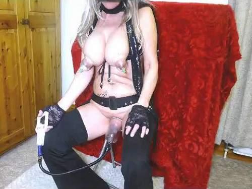 Enema – Pump pussy and cream enema vaginal dirty busty milf