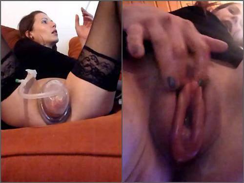 Pussy pump – Mydirtyhobby girl pumped her sweet big cunt