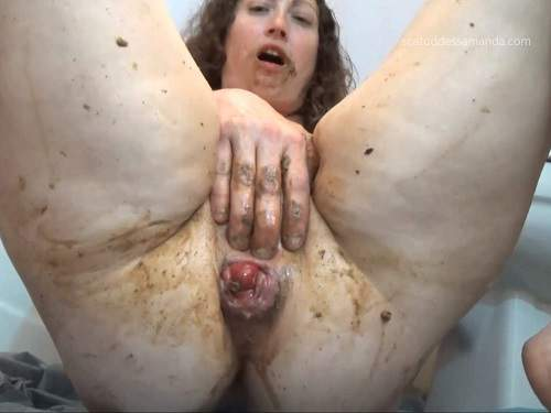 Amateur mature – ScatgoddessAmanda try anal fisting and rosebud loose