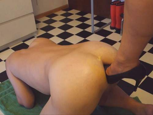 Male anal – Footing, fisting and anal pump domination wife