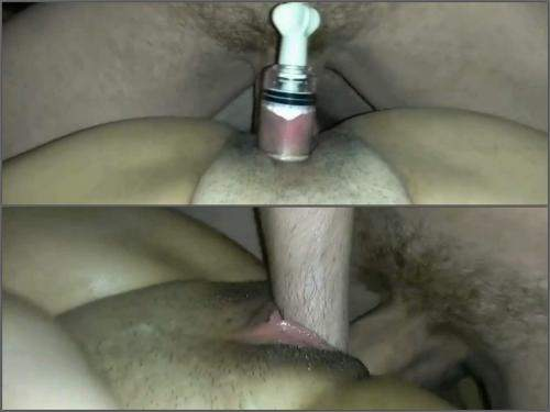 Pussy insertion – Kinky_couple7990 closeup clit pump and anal sex at the moment