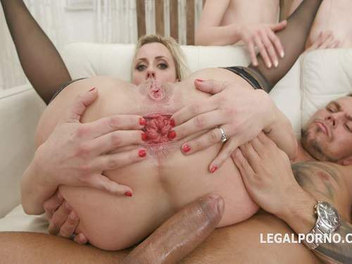 Anal – Brittany Bardot, Elen Million and Sara Bell gangbang prolapse and gaping anal porn