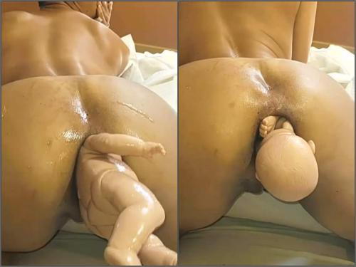 Mature fisting – Amateur latina wife have birth from her huge anal gape