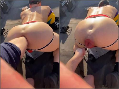 Gay fisting – Brutal gays outdoor anal fisting and falls prolapse in doggy pose