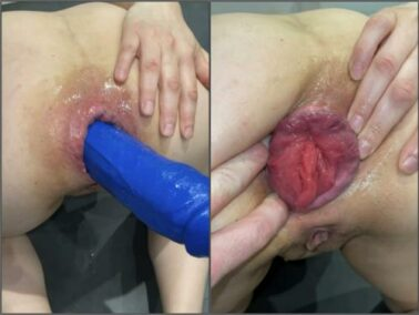 Booty girl - M687pro big blue dildo with the balls in ass – Premium user Request