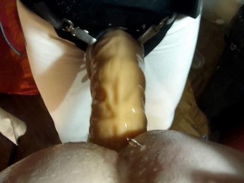 Strapon domination – Amateur POV porn – Submissive Husband enjoy pegging femdom sex