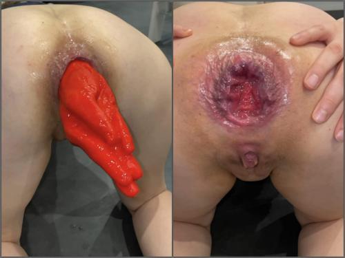 Huge dildo – M687pro Big Hand Dildo hidden in my asshole – Premium user Request